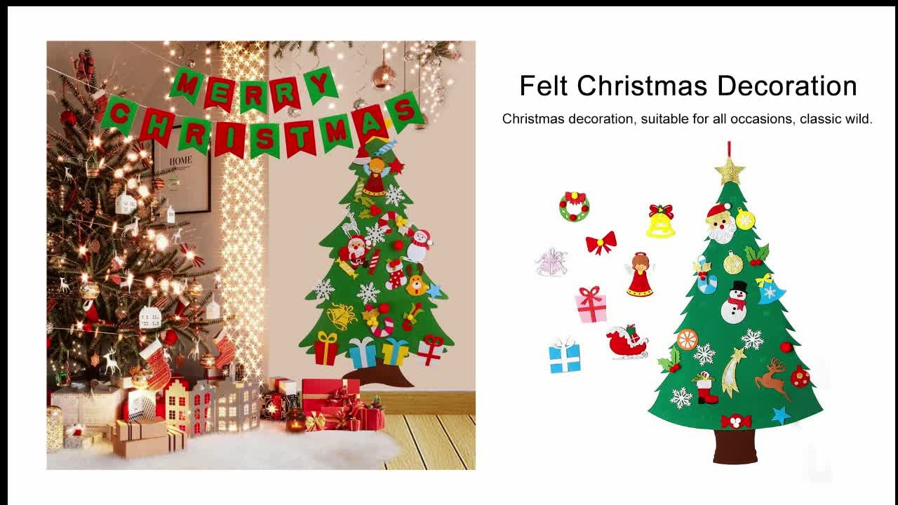 China factory felt christmas shapes chair covers