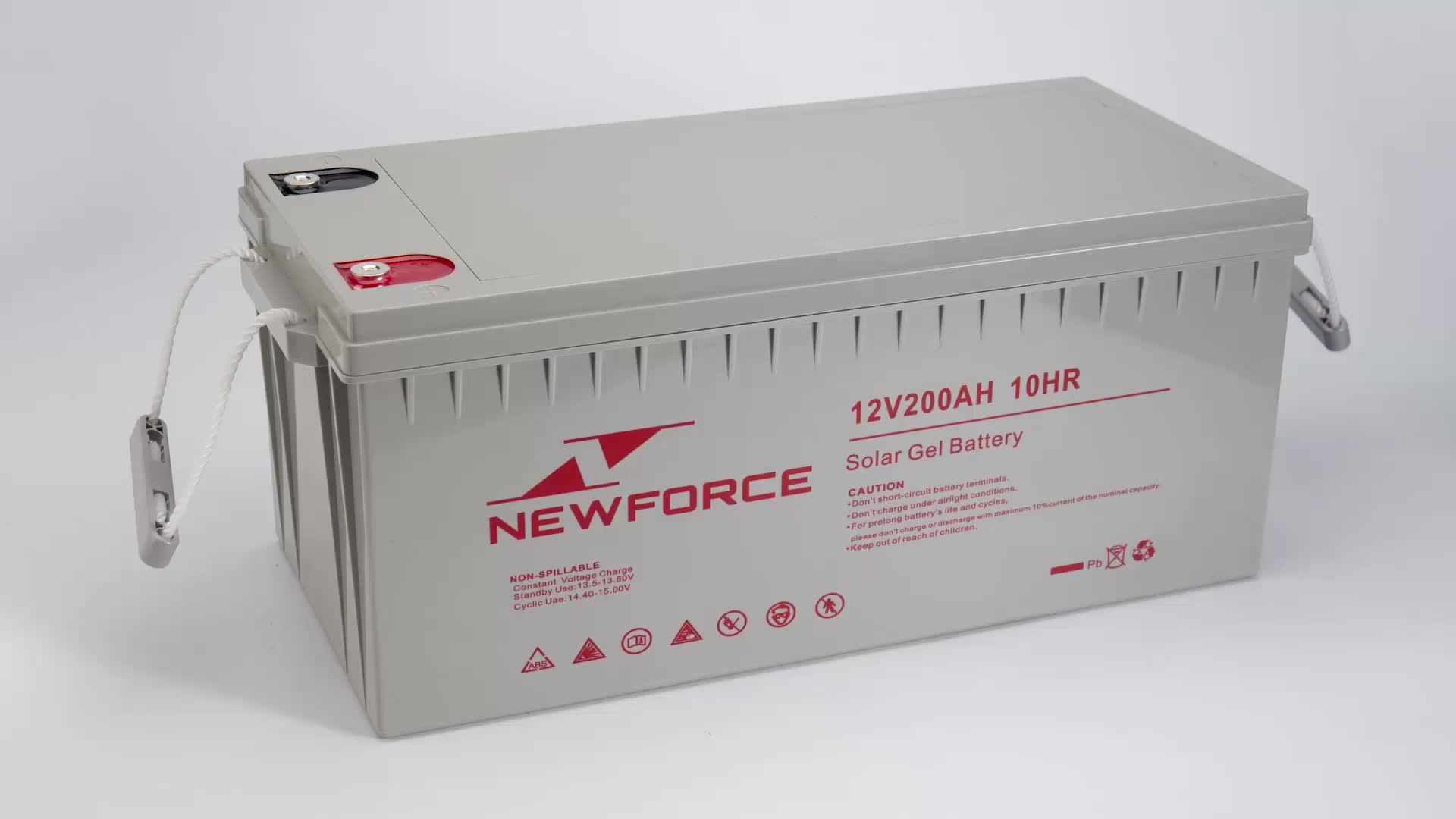 Bateria de alta capacidade gel 12v 300ah 12v 300ah de bateria solar de armazenamento de energia solar