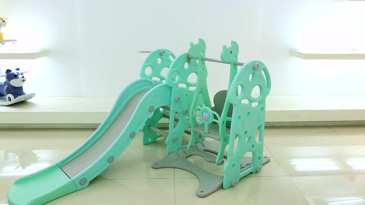 plastic baby swing and slide