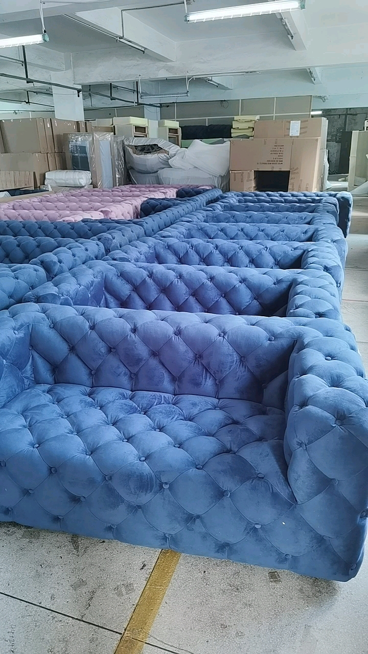 Sofa Klasik Coklat, Sofa Chesterfield, Sofa Chesterfield Kulit R339