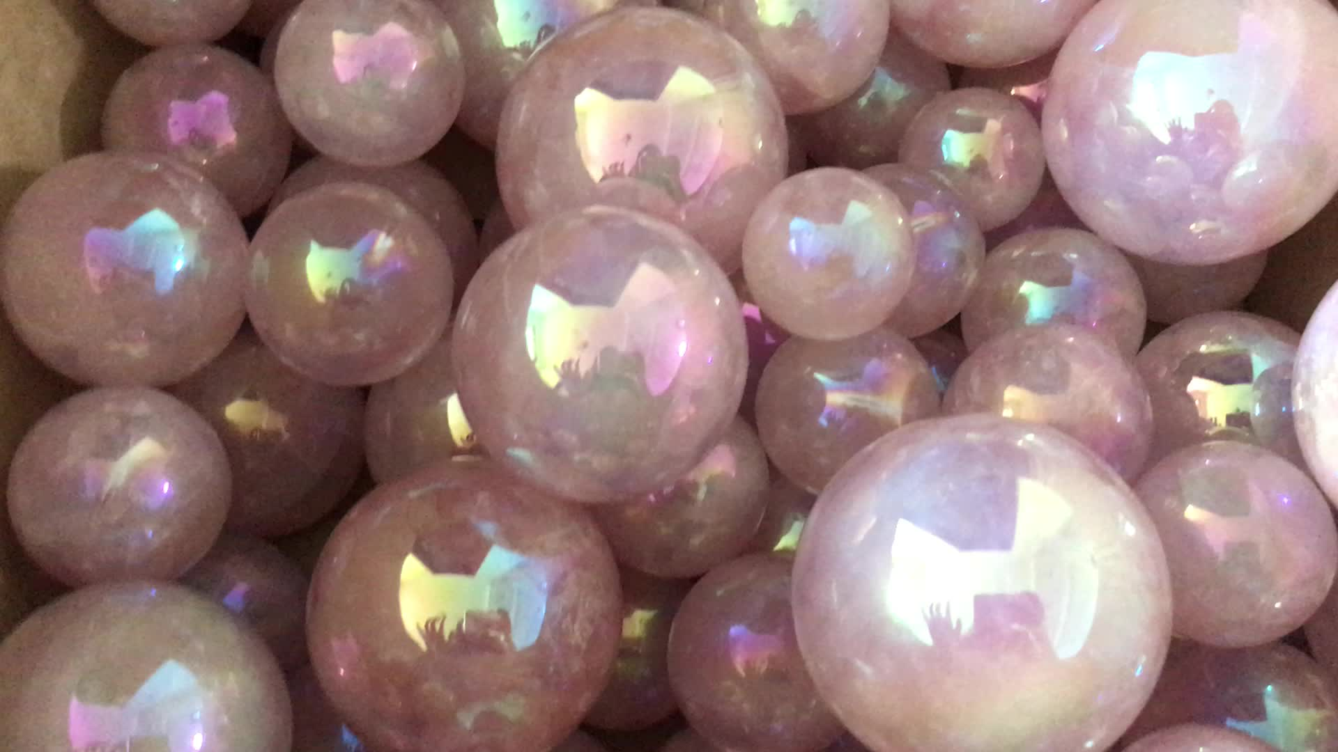 Natural Aura de Ángel cuarzo rosa bola de cristal de cuarzo rosa esfera de cristal para la venta