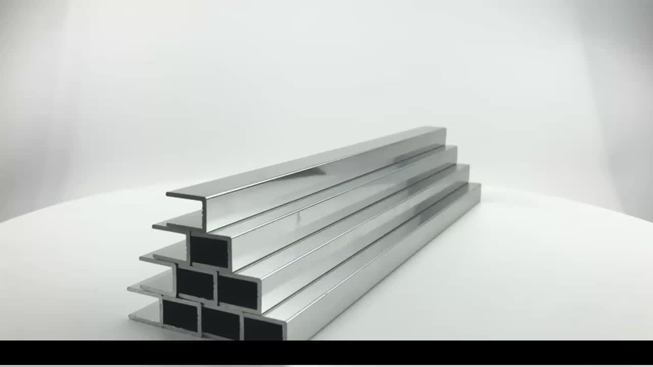 Hot selling Polished zhonglian aluminium profile for bathroom door , aluminium bathroom door profile