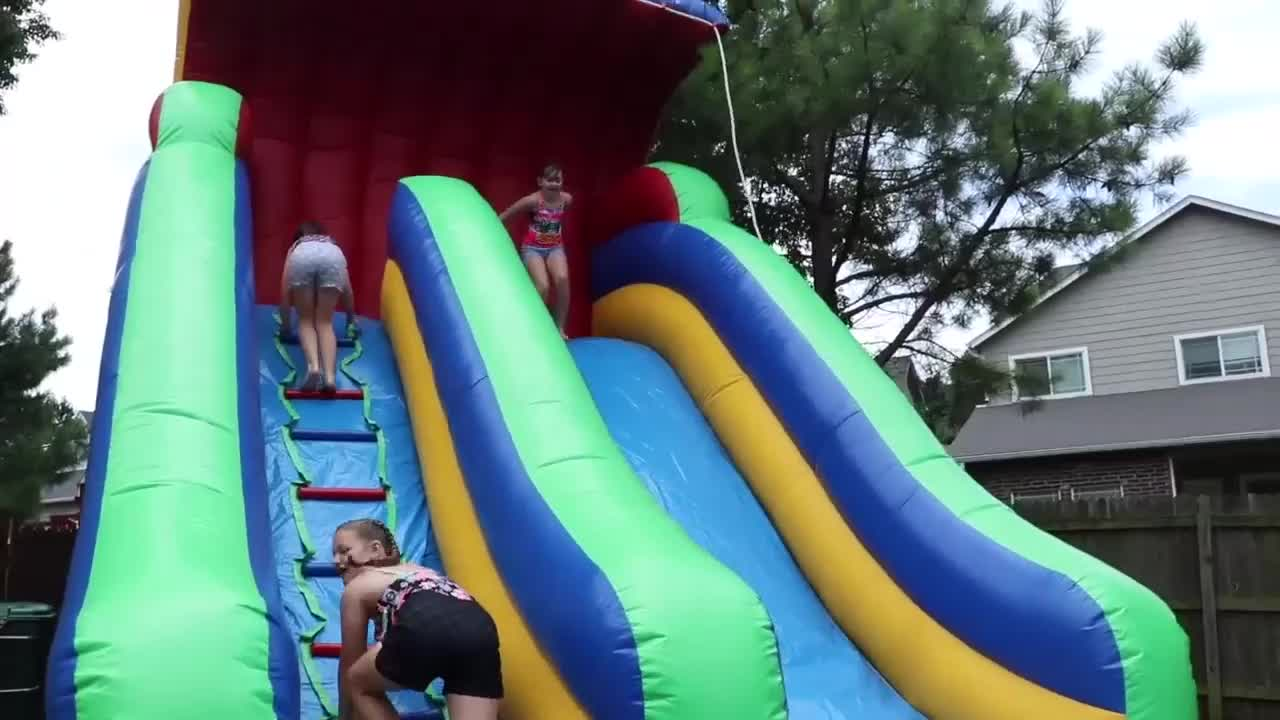 China Wholesale Big Large Cheap Clearance Commercial Bounce House Bouncy Castle Inflatable Water Slide With Pool For Sale Adults
