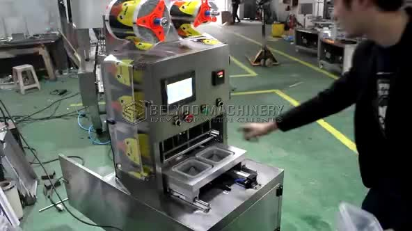 Egg Yogurt Modified Atmosphere Packaging Automatic Tray Sealer Cup Sealing Machine