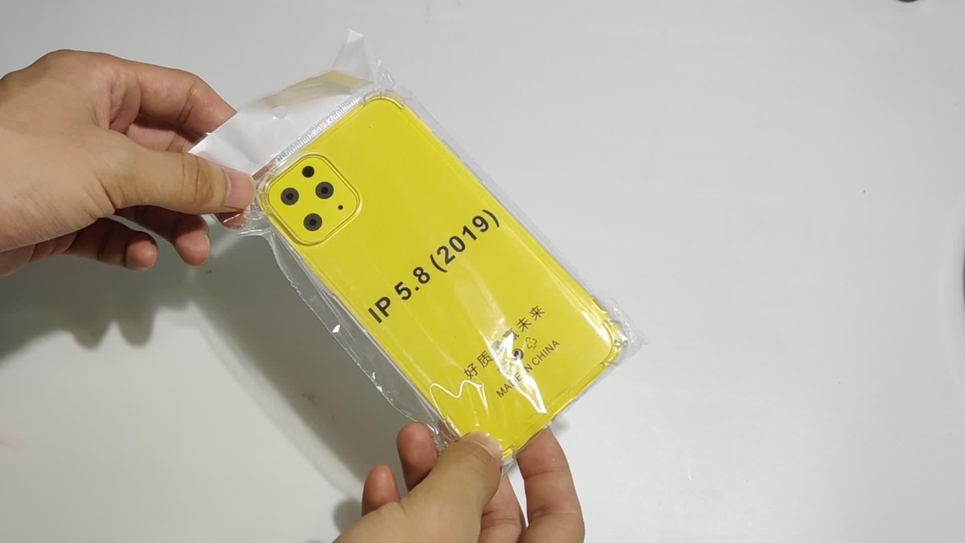 विरोधी दस्तक शीतल TPU पारदर्शी स्पष्ट फोन के मामले में कवर की रक्षा के लिए Shockproof मुलायम मामलों iPhone 11 प्रो मैक्स 7 8 प्लस एक्स XS