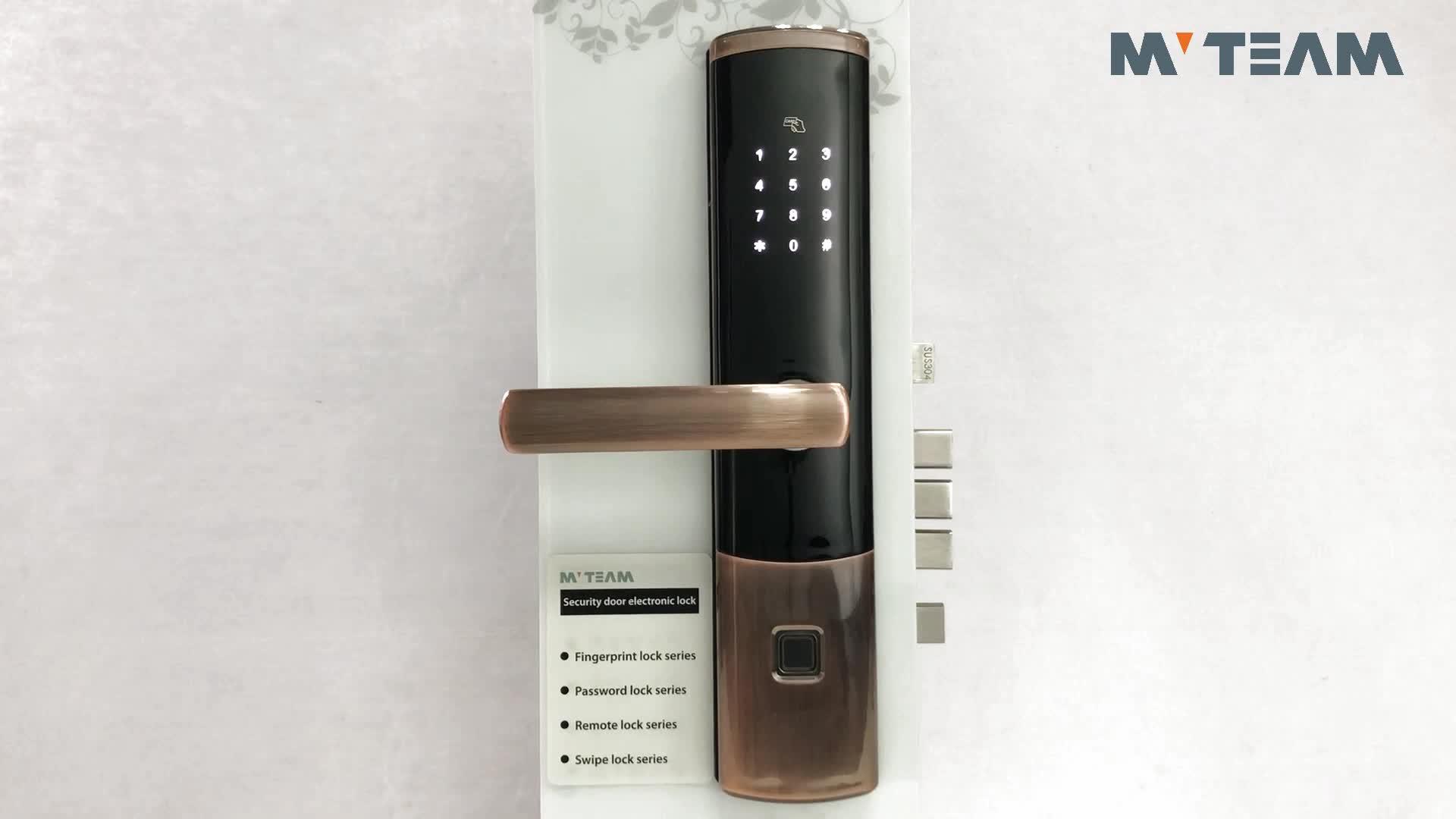 High Security Door Lock Fingerprint Intelligent WiFi Remote Control Bluetooth Door Lock With APP