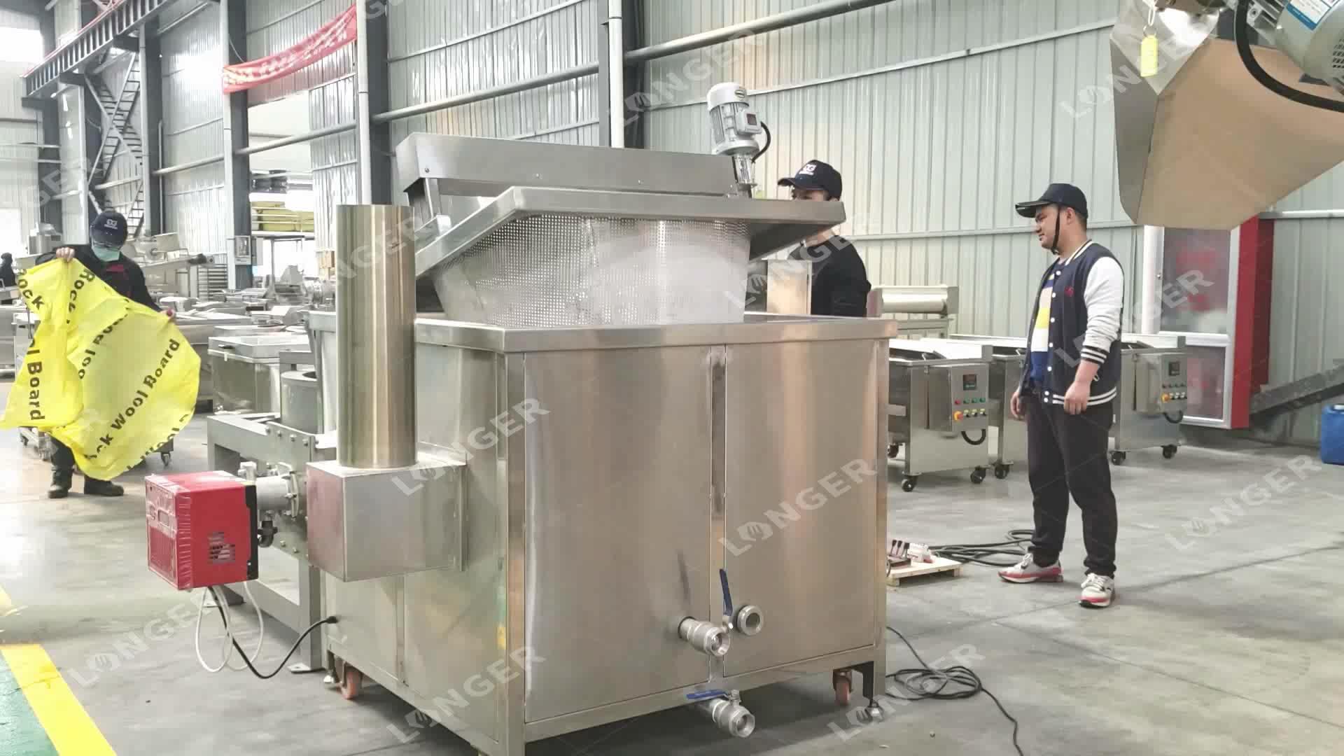 دونات آلة القلي | ماكينة إعداد الدونت من الفولاذ المقاوم للصدأ |