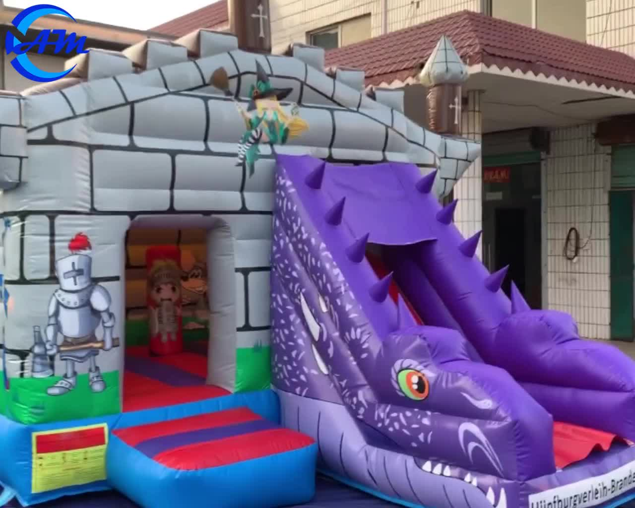 Kids character bouncy castle inflatable jumping castle with slide
