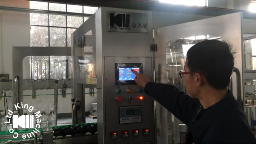 Automatic Hot Melt Glued Labeling Machine For PET Bottles