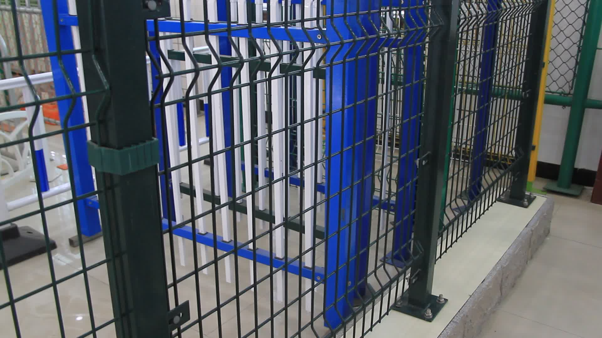 Cheap 10 Foot High  Airport Fence Panels With High Barbed Wire
