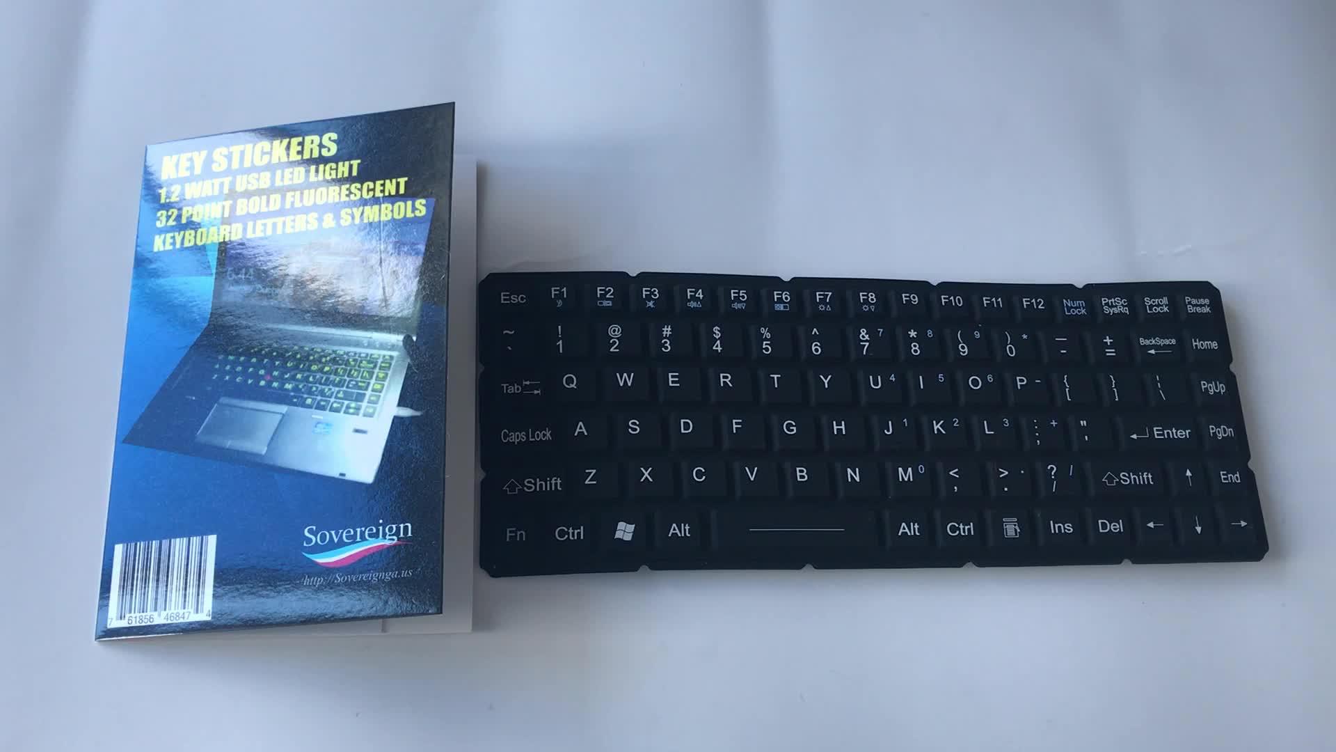 Высокое качество флуоресценции зеленый стикеры Клавиатура Французский макет наклейки для ноутбука