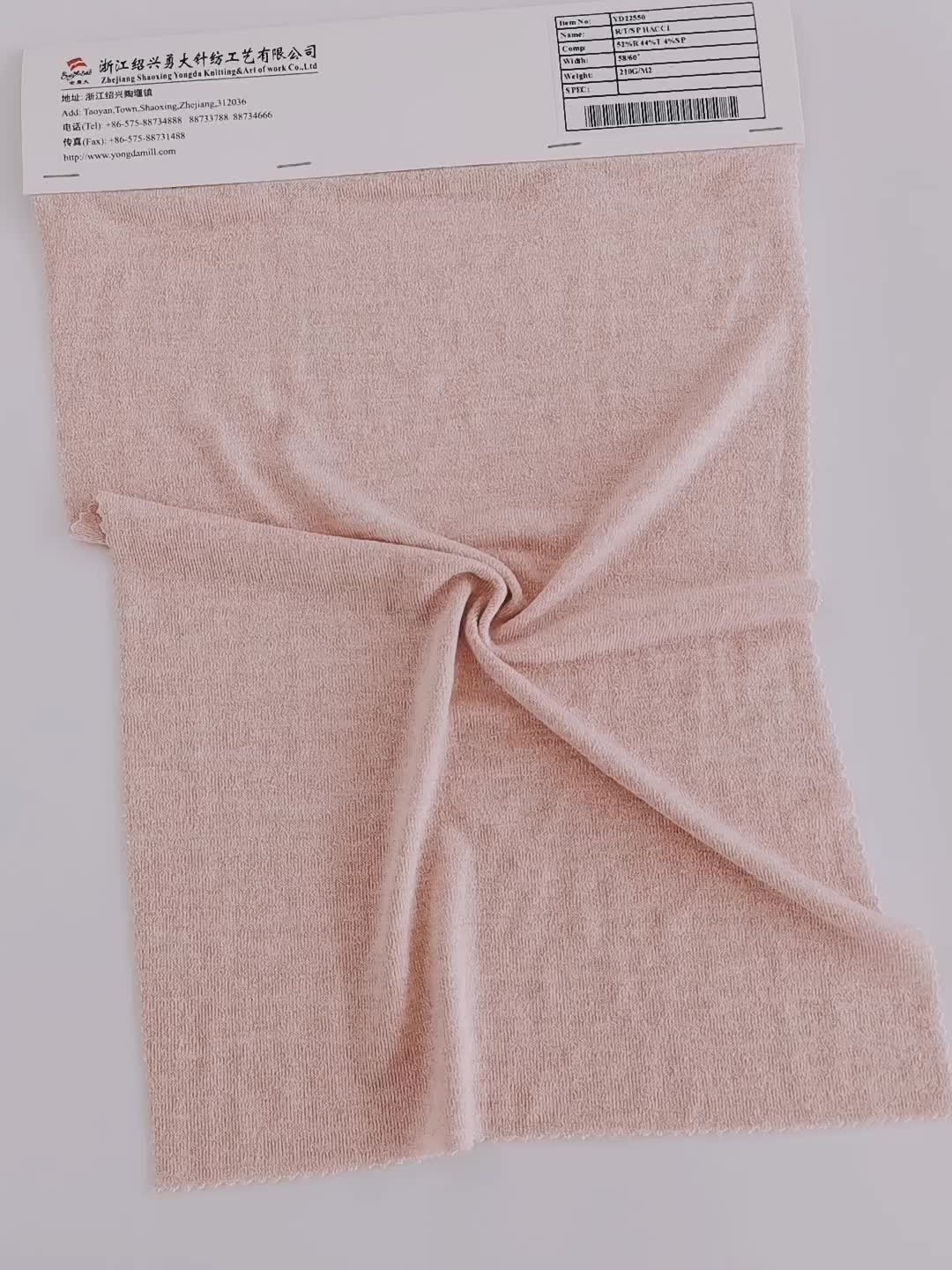 Nondestructive hacci polyester price per meter fabric rayon with high strength