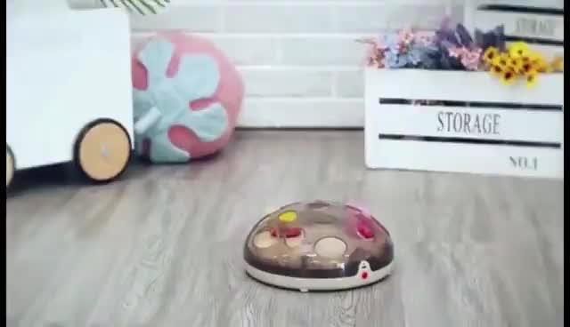 2019 Dougez new design cat  puzzle turntable Electric maglev pet interactive toy with Moving feathers