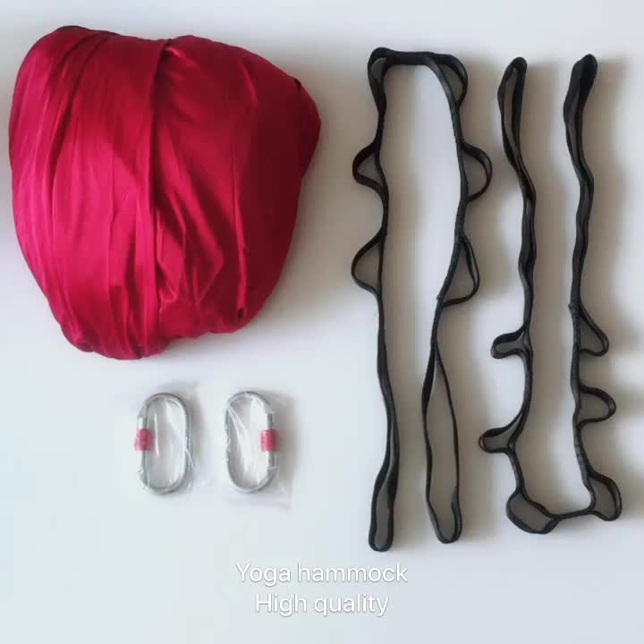 Yoga Swing Aerial Hammock Kit Flying Yoga Silk Kit with strap, carabiner Include Ceiling Mounting Kit