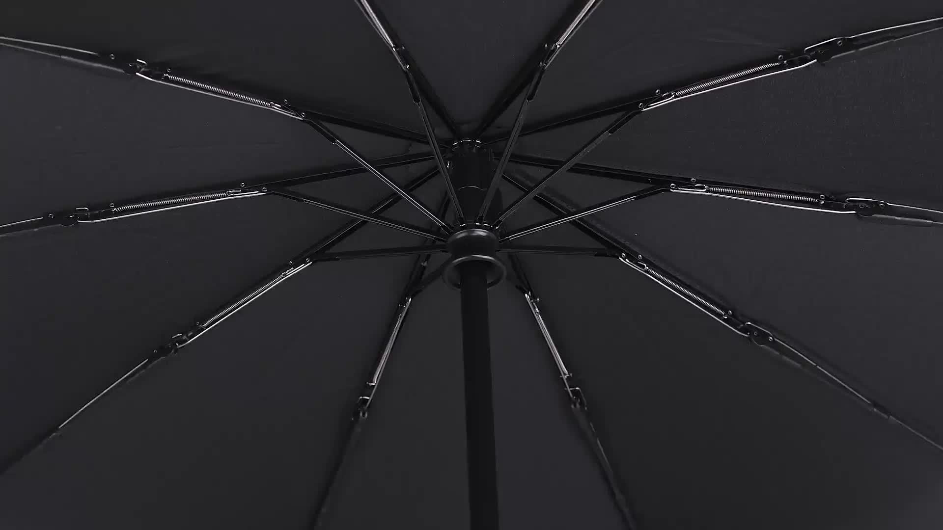 """21 """"8 K כפול חופה 3 קיפול מטרייה אוטומטית מטריית מכונית צל"""