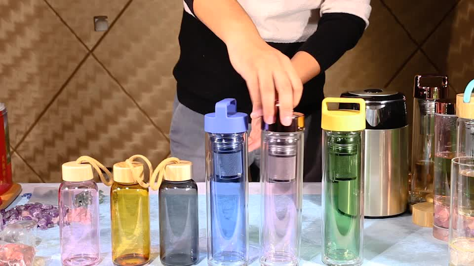 china yongkang colored clear glass water bottle