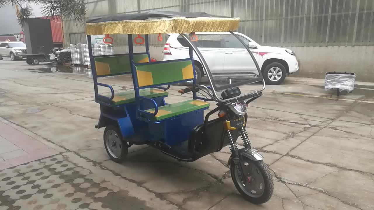 Cheap Price Battery Operated Rickshaw for 2 Passengers for Bangladesh from China Electric Tricycle Factory