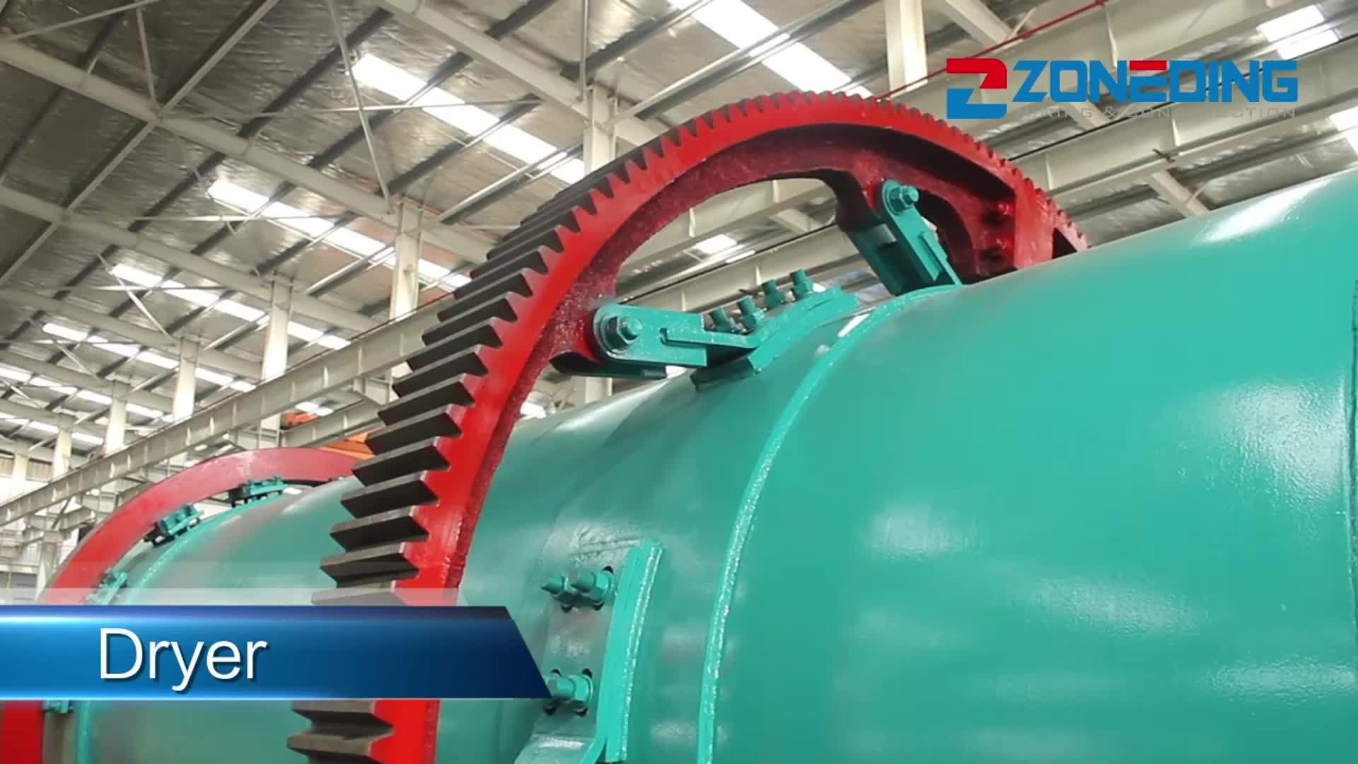 Industrial supply cement electric bentonite rotary dryer with price