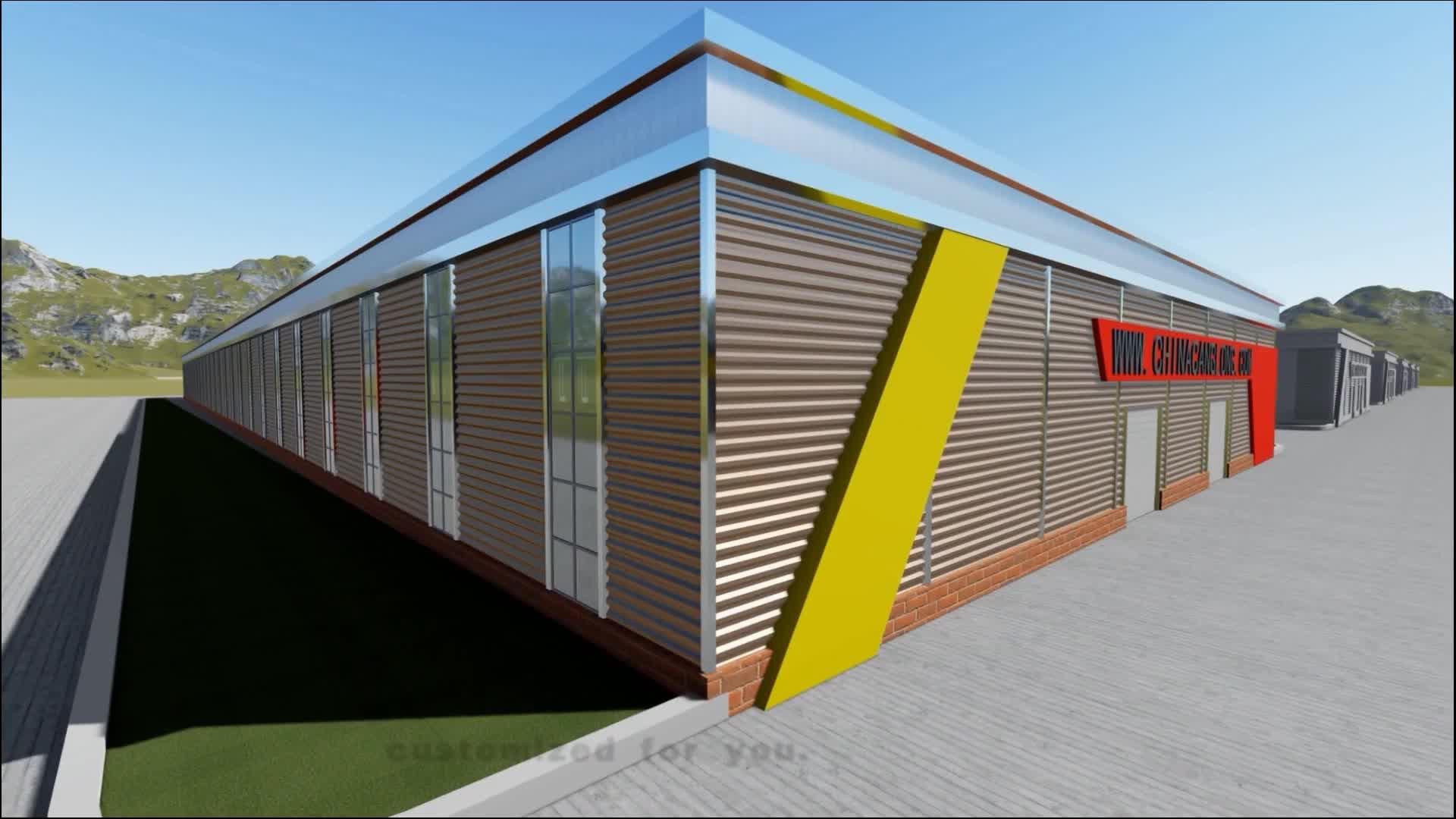 販売のための鉄骨構造の建物の冷蔵倉庫の構造