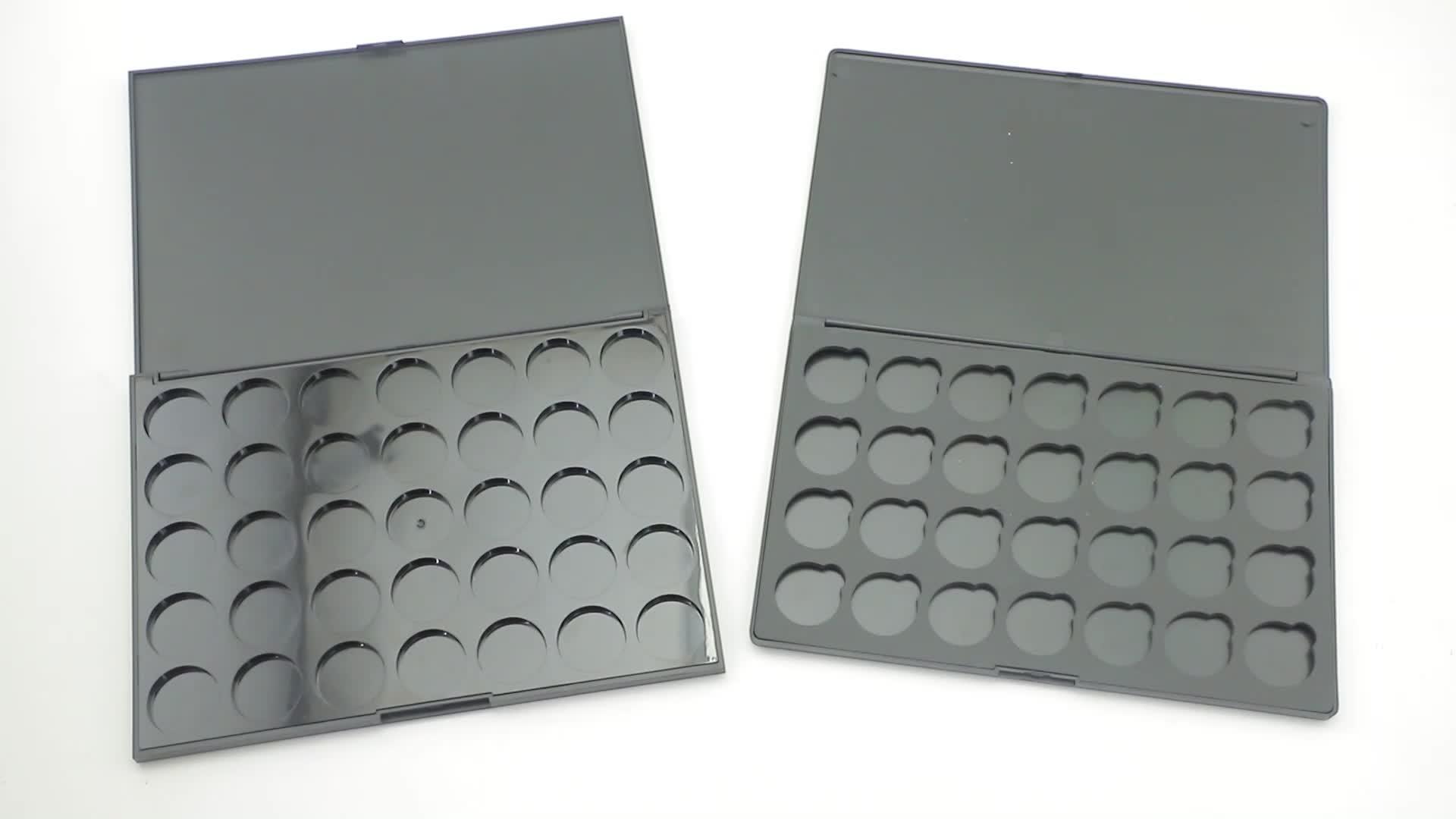 Cores 9 3D Poços Embalagens Vazias Da Paleta Da Sombra de Maquiagem Com Espelho Lable Privada