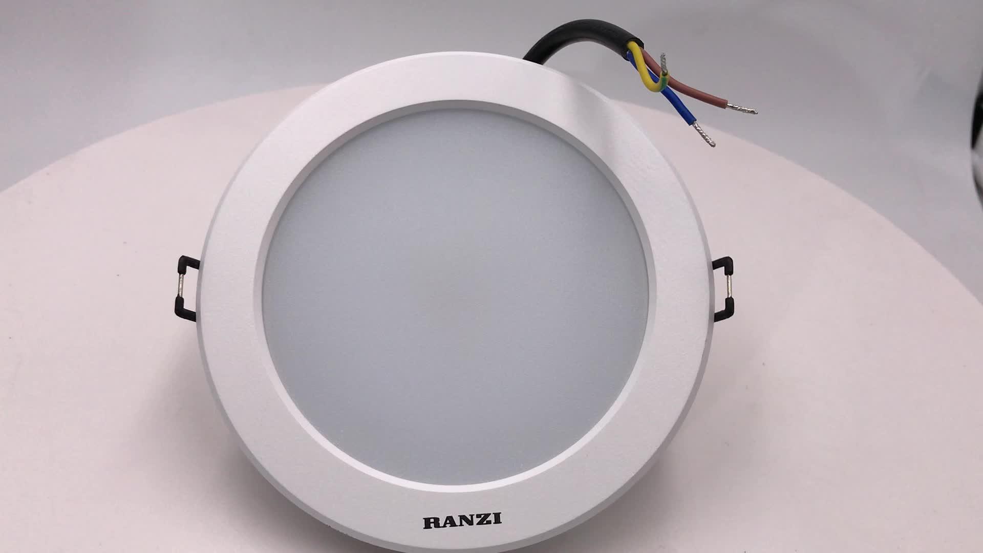 Düşük fiyat 5W 7W 9W 12W 15W 20W 30W gömme downlight difüzör PC + alüminyum gövde LED aşağı ışık