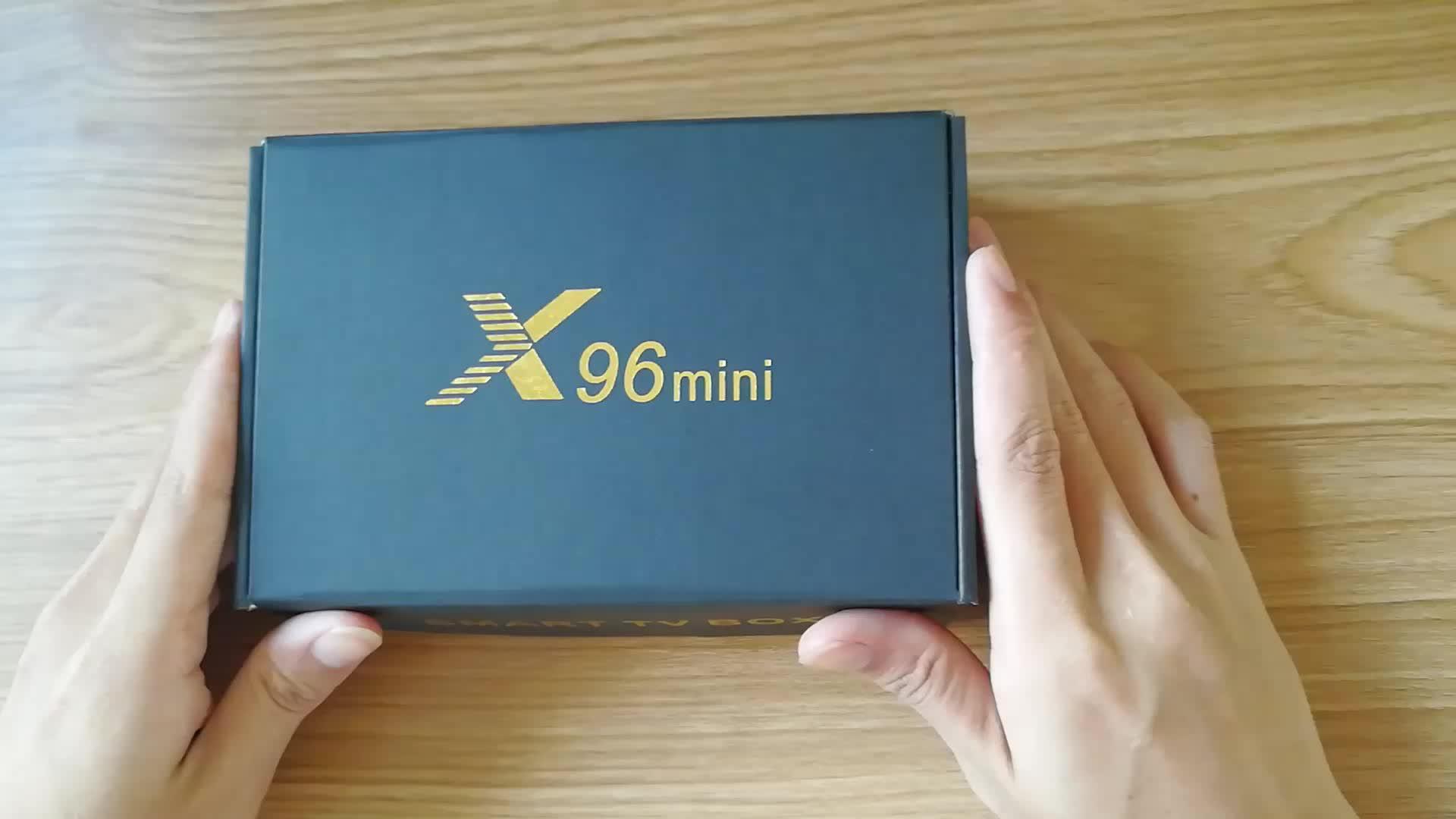 X96 мини Amlogic S905W ГБ 8 ГБ android ТВ коробка android 7,1x96 4 К к full hd 4 ядра умные телевизоры коробка для Интернет ТВ приставка