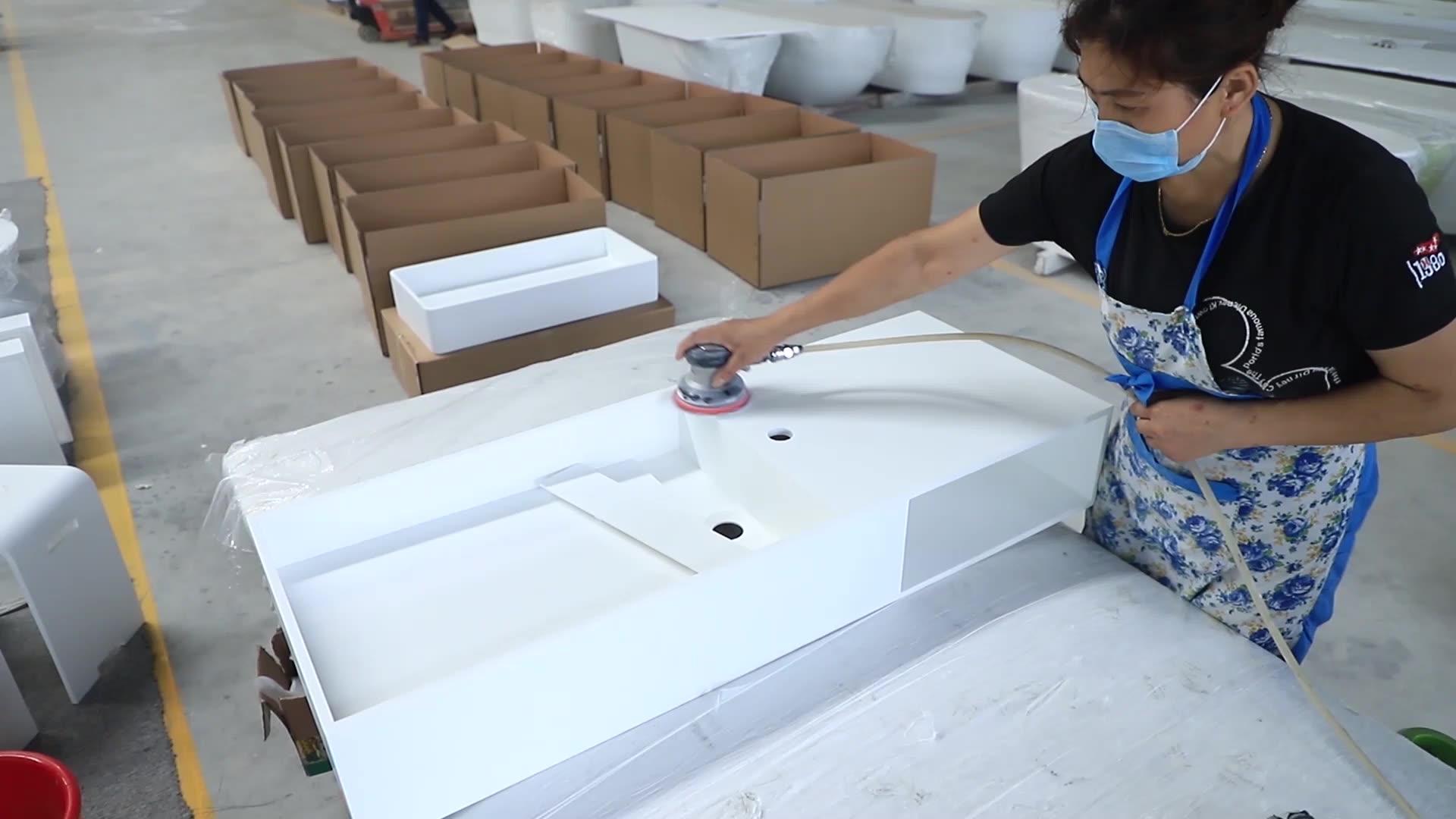 artificial stone long narrow rectangular basins wash, acrylic stone basins