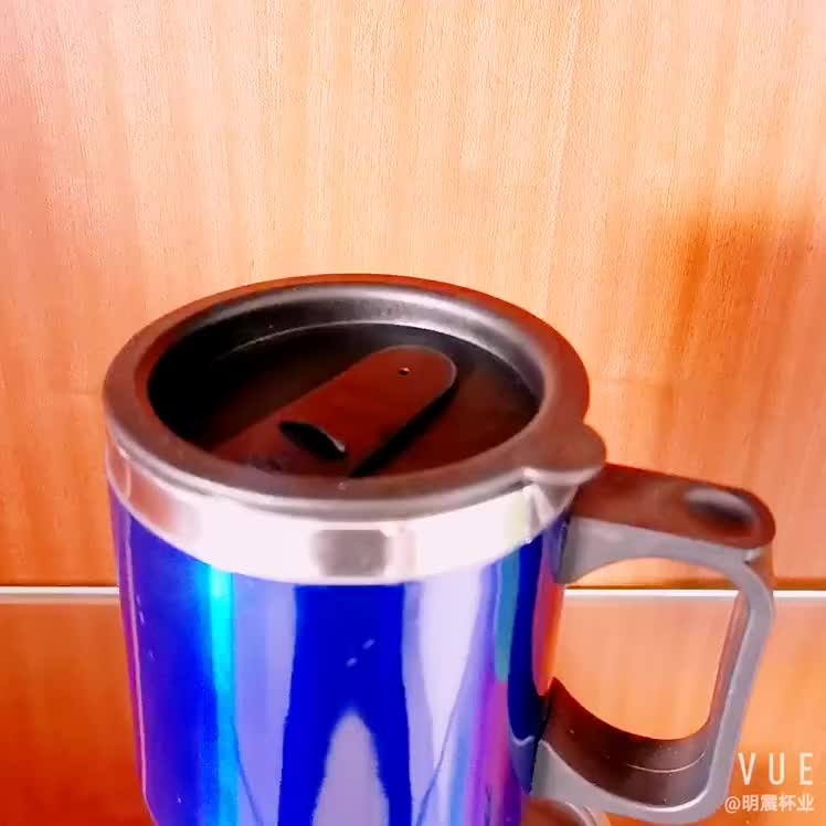 Double stainless steel 12V car USB plug-in heated thermos double steel charging insulation electric cup heated mug warmer