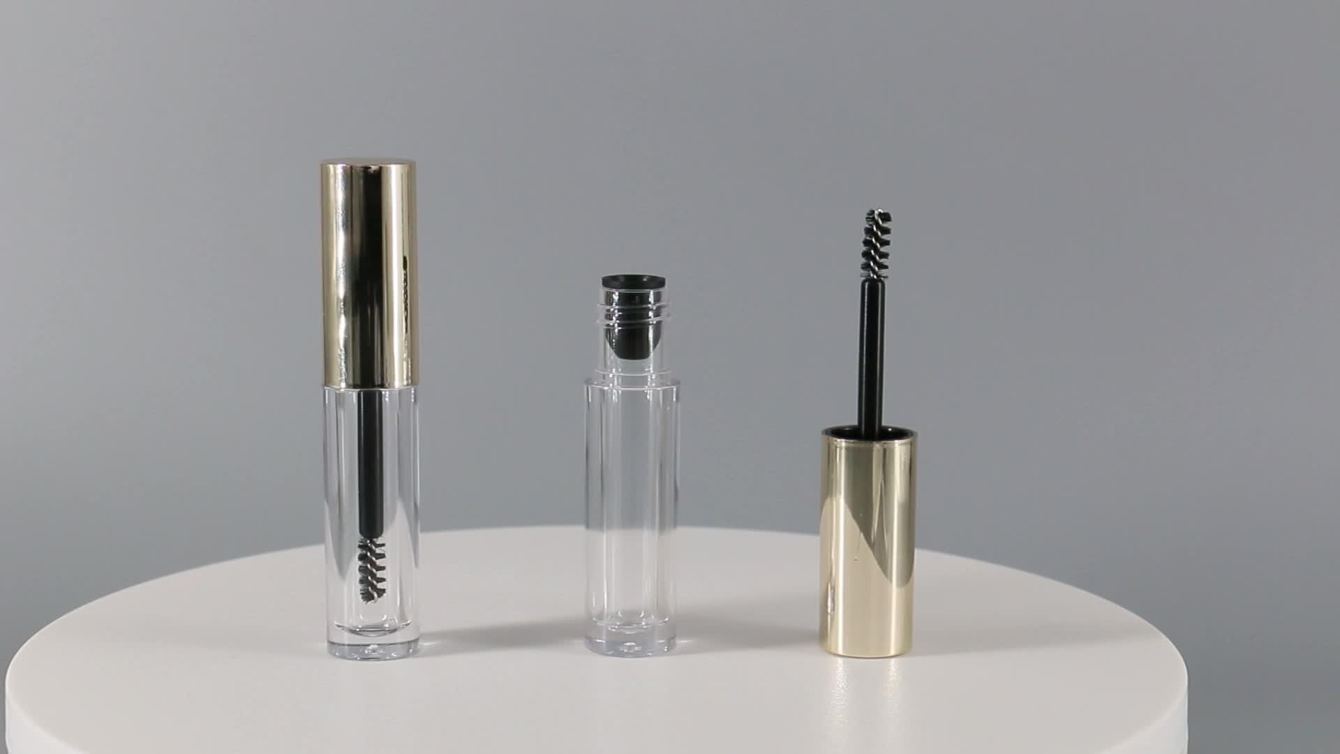 Lovely mini 3ml custom  empty plastic eyebrow mascara wand tube