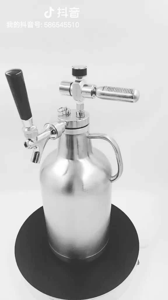 Craft Beer Dispenser for 1 gallon Growlers with CO2 regulator