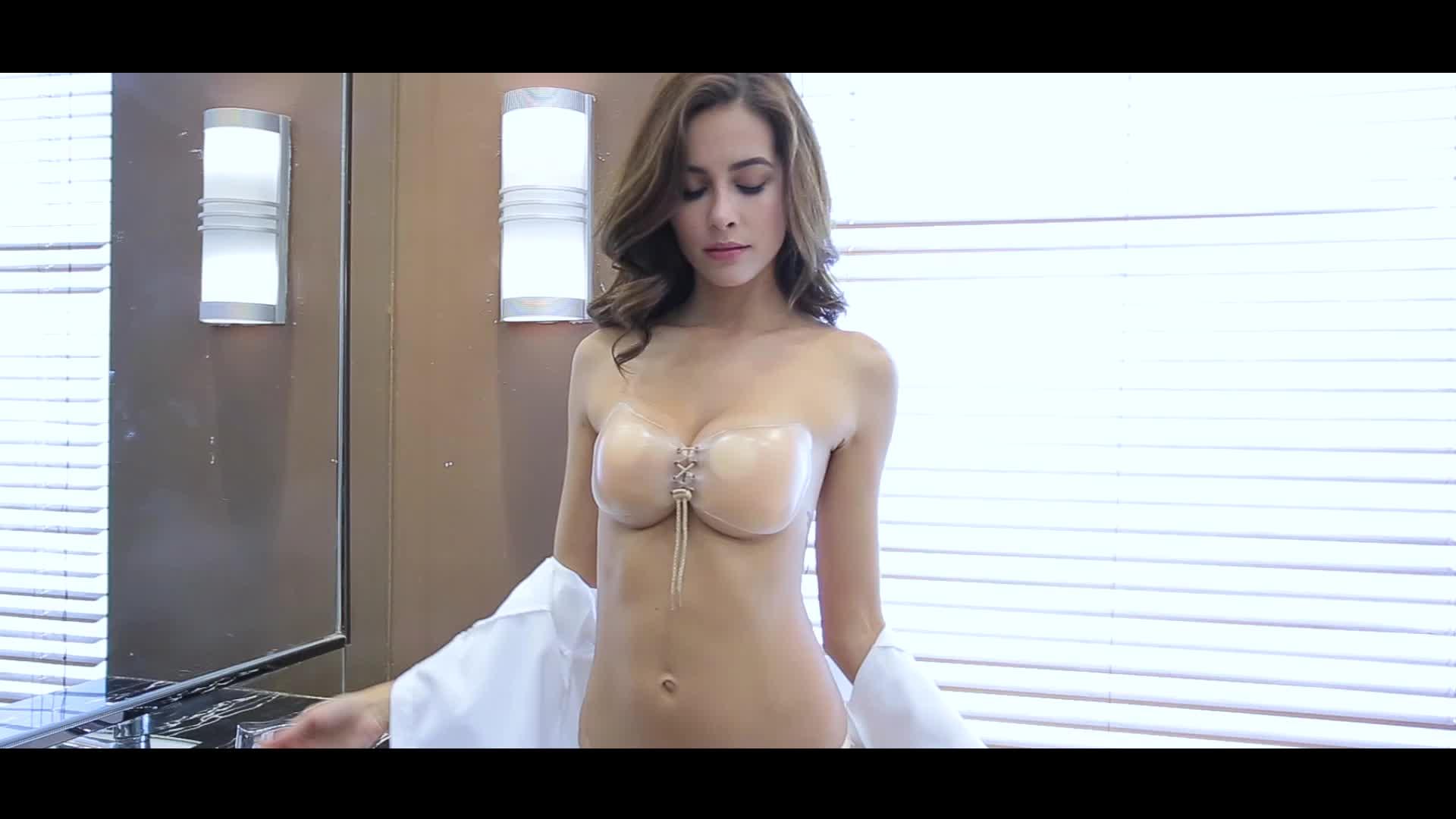 Women open cup bra sexy photos black silicone straps bra