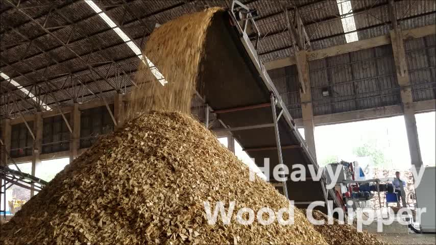 drum wood chipper YF318E+ with 12-18MT/H capacity