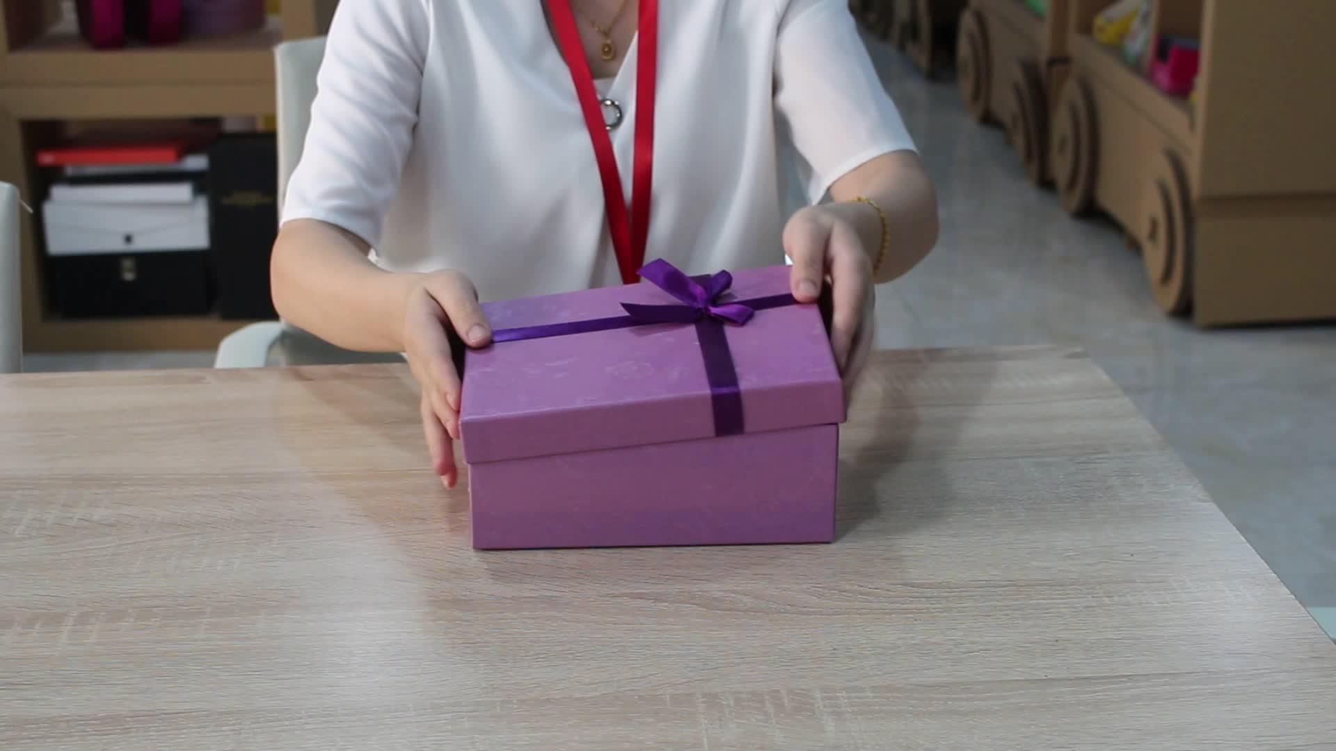 Colar de fita de luxo caixa de papel de embalagem de doces lanche pão high-end embalagem caixa de presente de chocolate