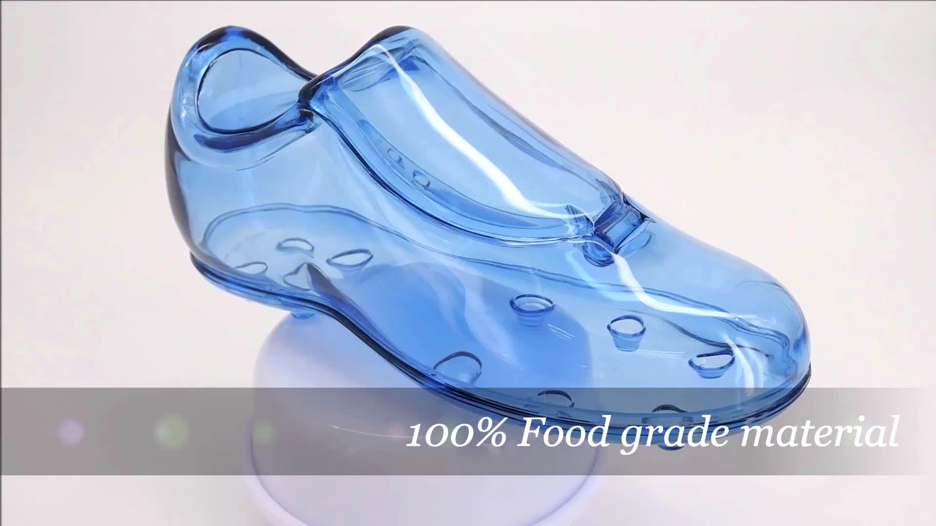 100% do Produto Comestível Plástico caixa de forma de inicialização de futebol por atacado