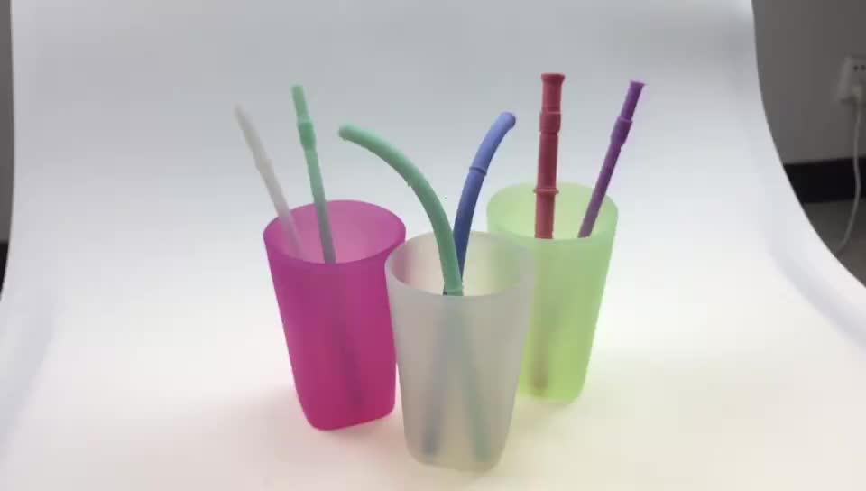Alta calidad caliente de la FDA de silicona de grado de alimentos de vidrio taza de bebida vino reutilizable de vidrio portátil al aire libre engrosada taza