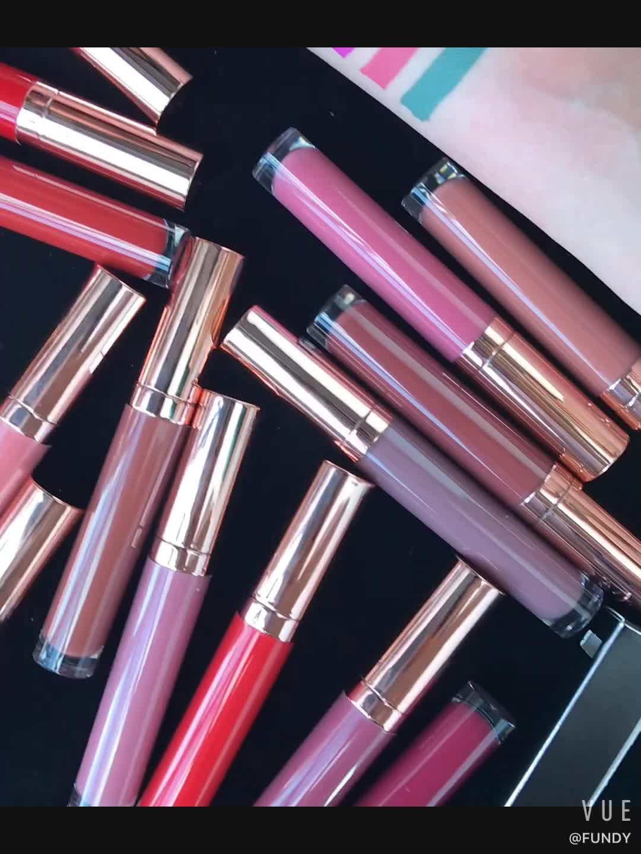 Heißer Verkauf langlebig Wasserdicht Private Label Matte Lippenstift 24 farben Matt flüssigen Lippenstift