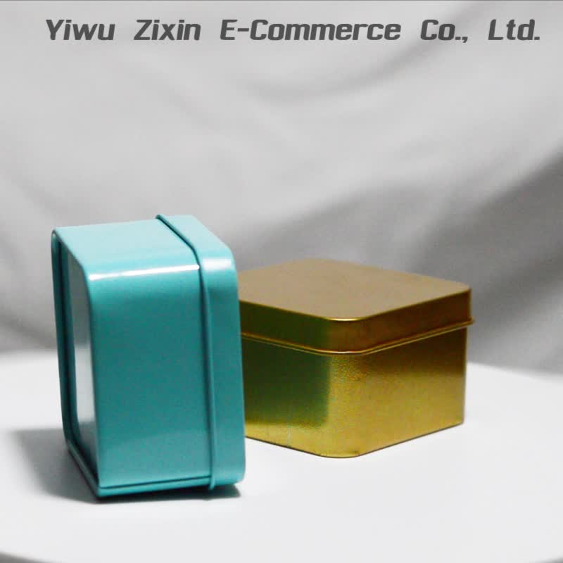 Party Favor Container Tin Soap Box Empty Candy Tins Square Metal Box With Lid