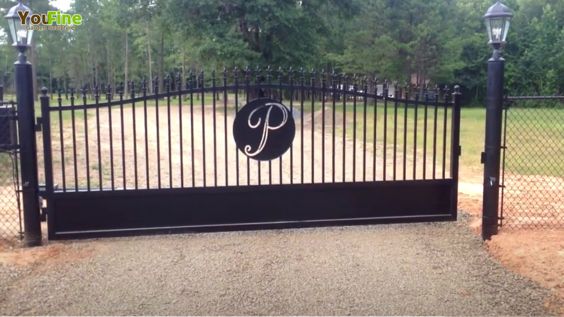 Ameristar wrought iron fence for farm
