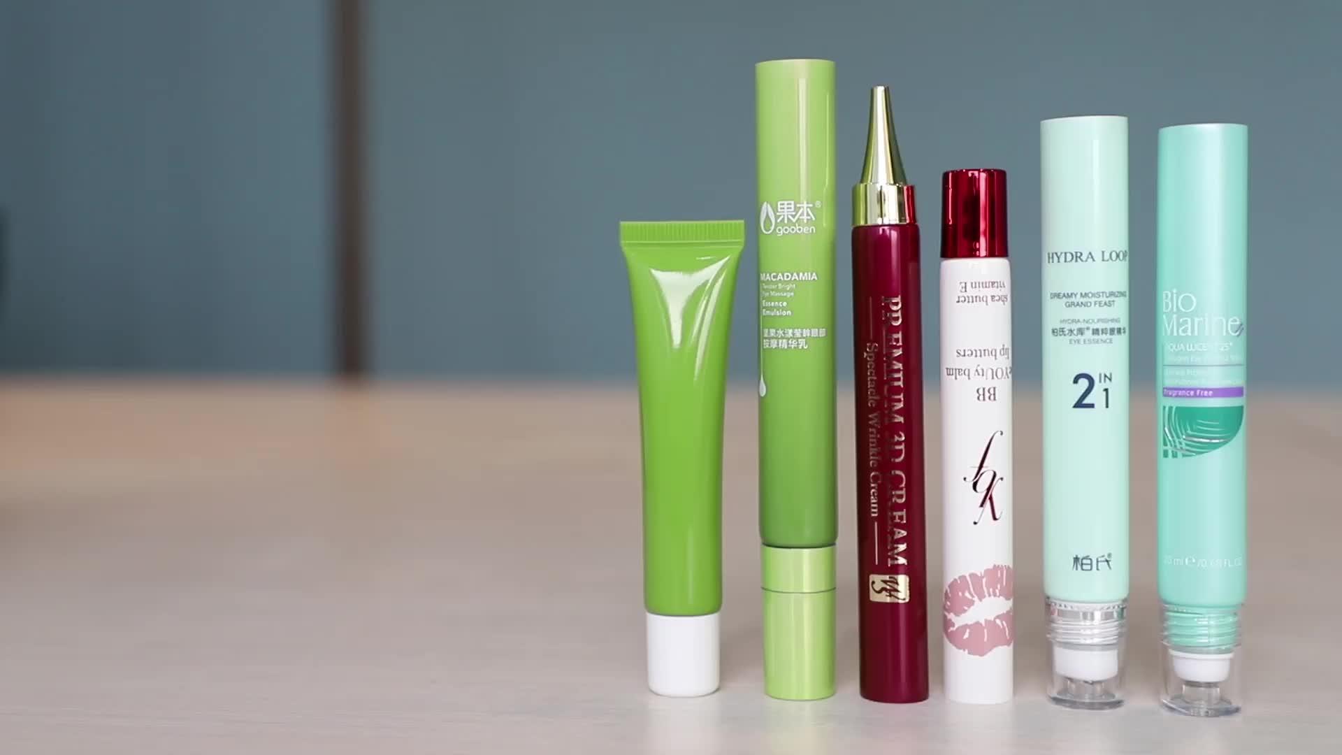 Eye essence three roller ball tube 15g empty massage oil tube pe material three roller ball tube for eye cream