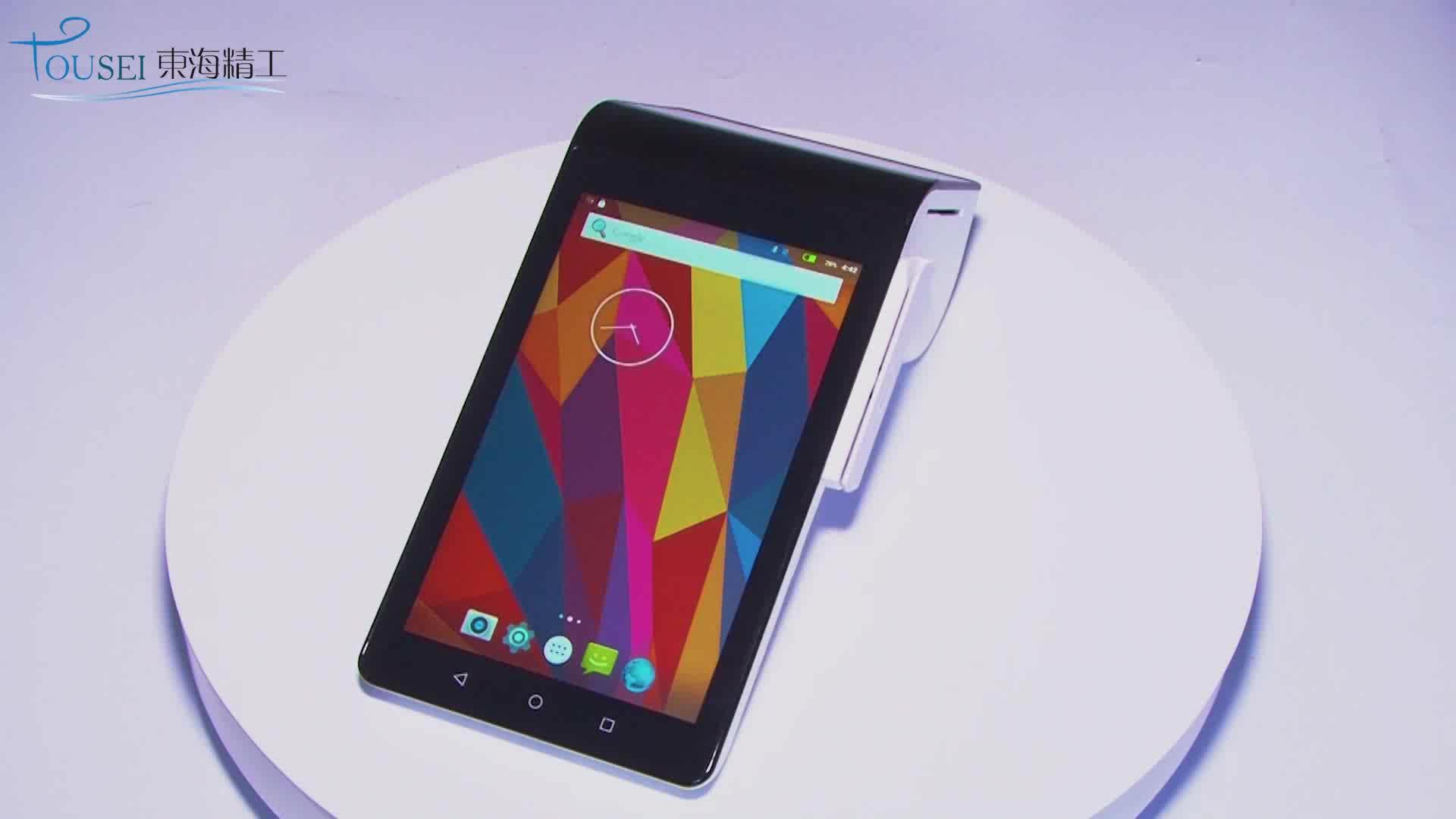 Handheld Tablet PC Android Dual Display Pos Terminal Credit Card Reader Pt-7003