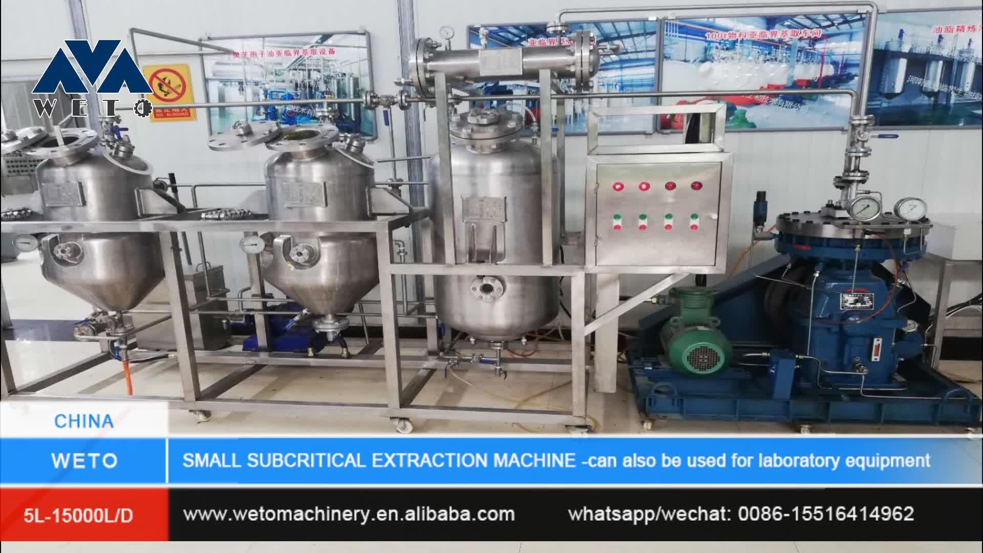 High quality rose essential oil distillation machine co2 hemp extraction