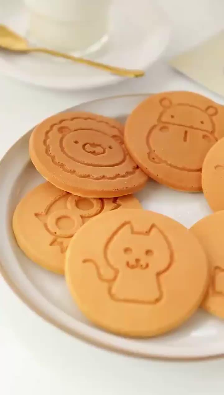Smiley Gezicht Mini Pancake Non-stick Wafel Bakken Ontbijt Cookie Omelet Egg Fry Pan