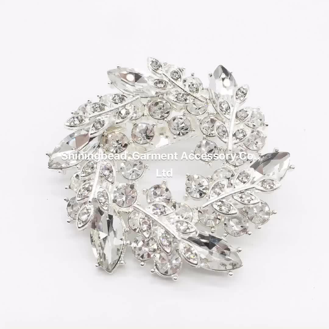 Lindo Super Qualidade Atraente Jóias Broche de Forma de Coração para o Casamento De Noiva Bouquet de Flores com Pin de Segurança