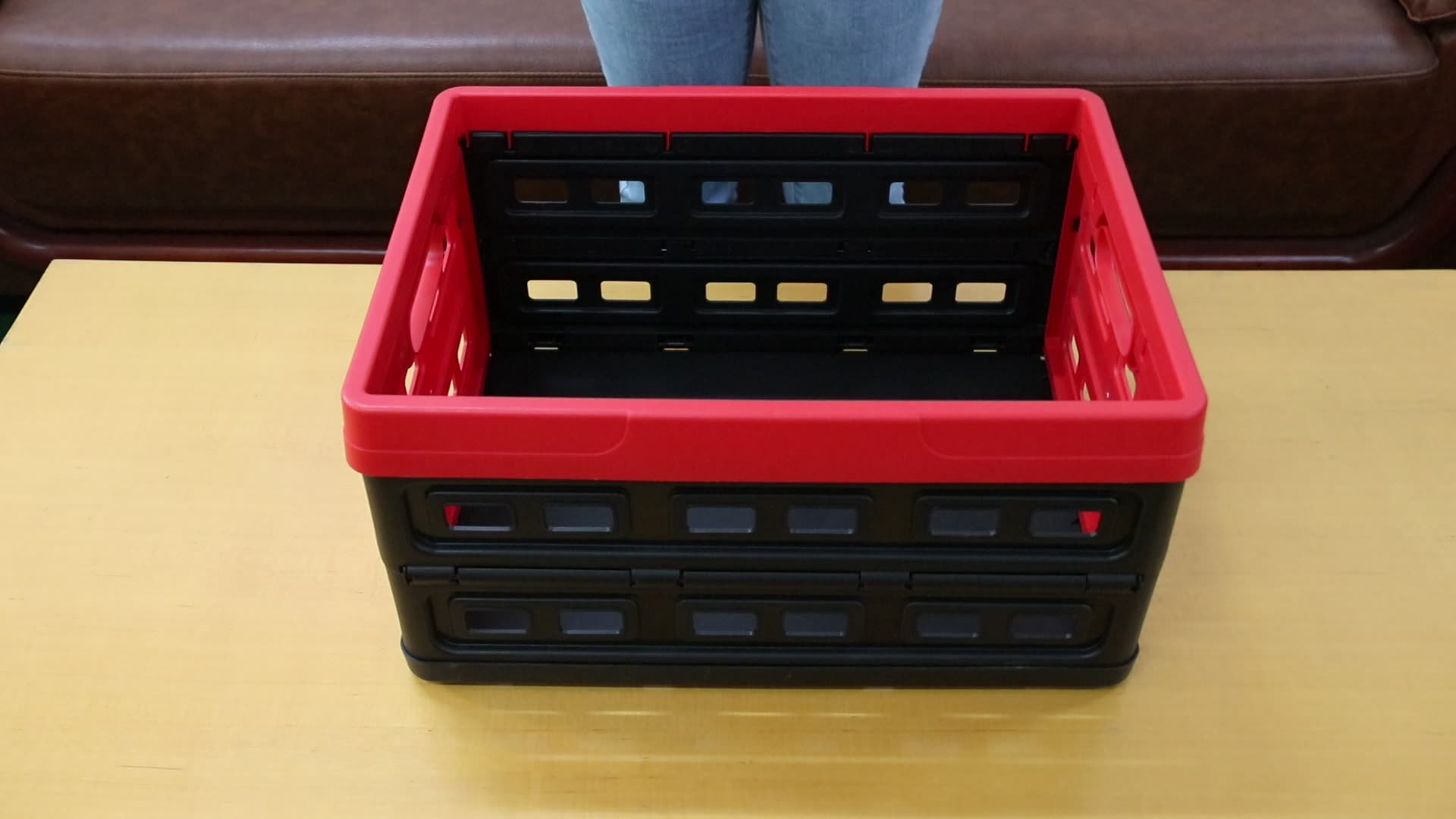 40L hot sale Plastic Collapsible Storage Containers Plastic Box for Home Use Storage