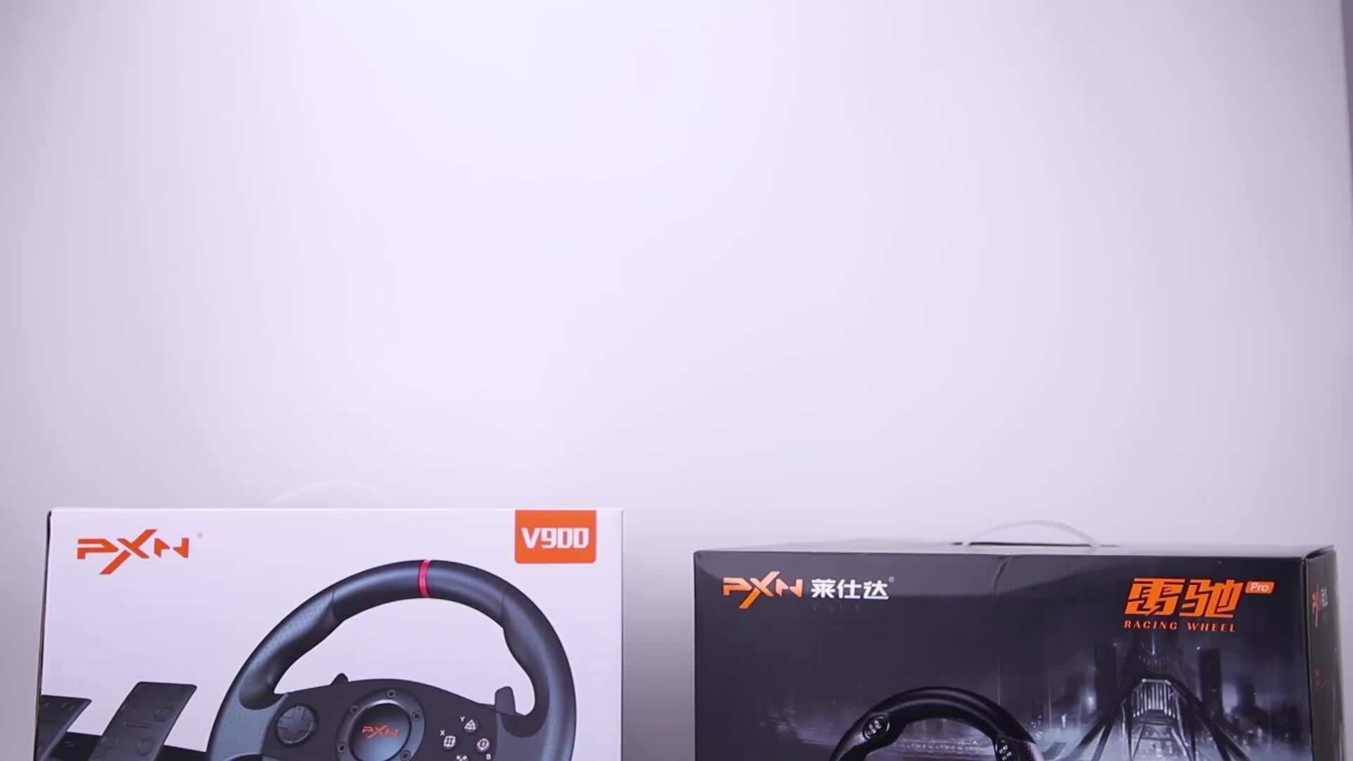 PXN V900 Multi-Platform การสั่นสะเทือนเสียง 900 องศาวิดีโอเกมพวงมาลัยสำหรับ PS3/PS4/XBOX One/PC/SWITCH