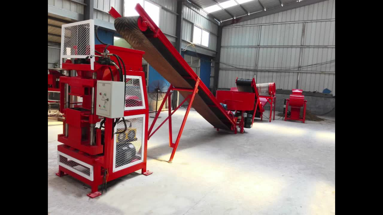 FL1-10 Automatic hydraulic compressed earth soil cement interlocking solid hollow brick block making machines