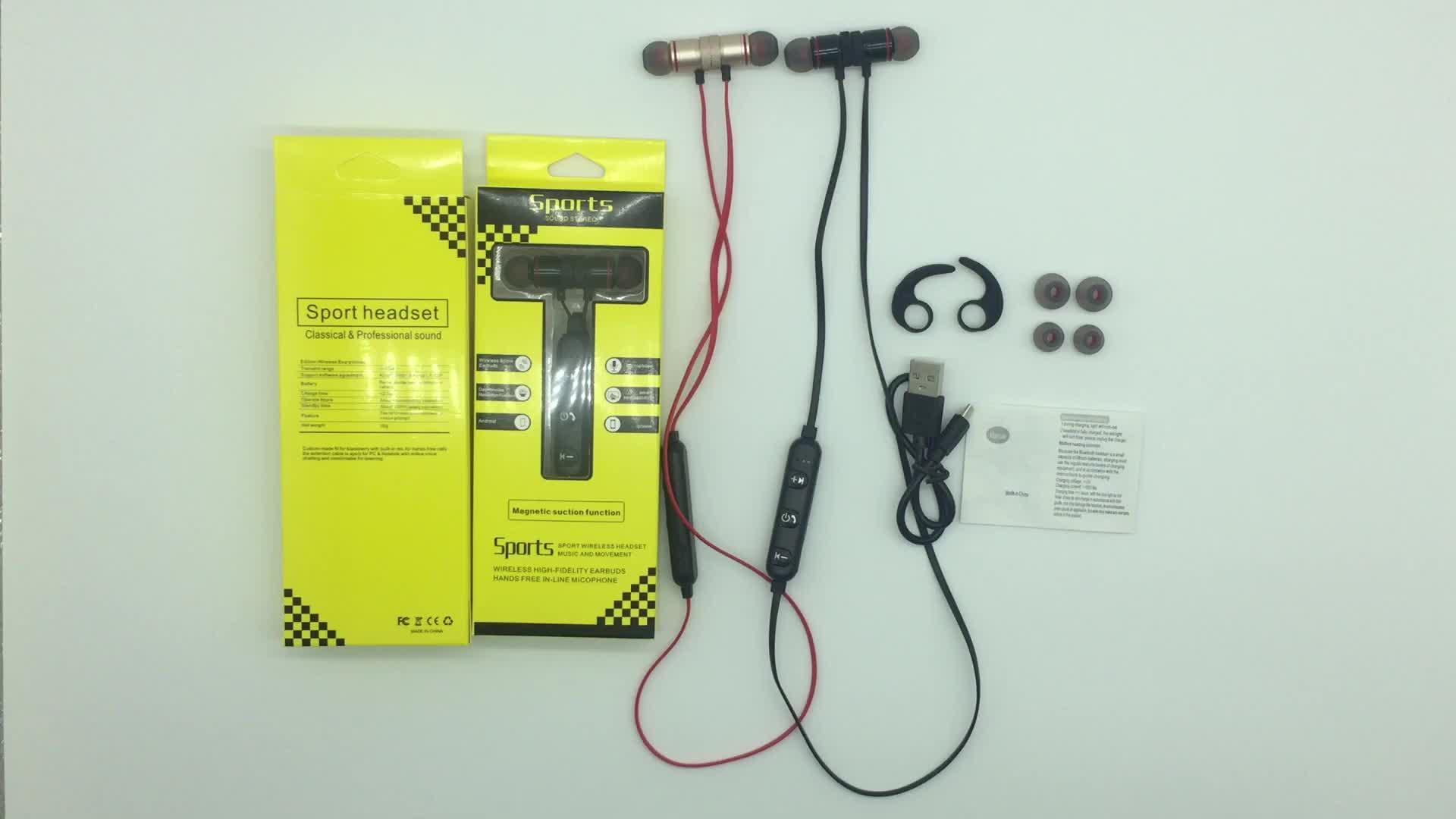 Fone de ouvido sem fio impermeável do fone de ouvido estereofónico de Bluetooth do esporte com Mic