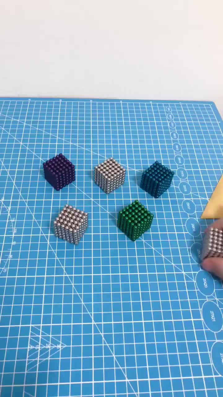 แม่เหล็ก NEO Cube 5mm 3mm สีสันสดใสลูกบอลแม่เหล็กลูกบอลแม่เหล็ก 5 มม.216