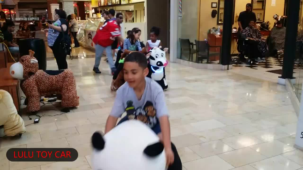 custom ride on motorized panda animals toys for children at home