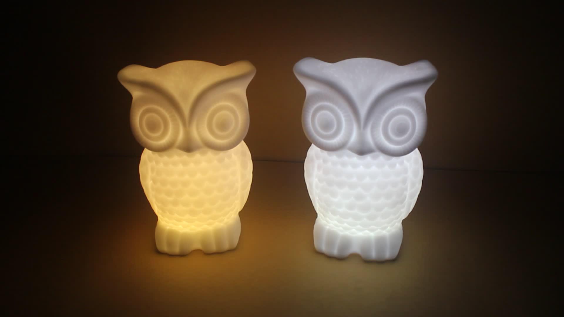 2019 Bedside Decorative Owl Shape Baby LED Night Light For Kids